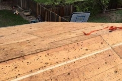 Old roof decking